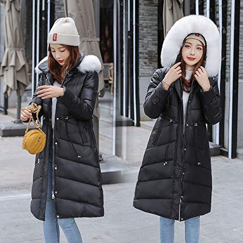 SWAQS Lange 2019 Mode Slanke Vrouwen Winterjas Warm Verdikking Dames Jassen Lange Parka Vrouw Zwart Bovenkleding XL Zwart