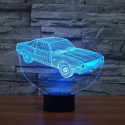 BGRFT Cheap sale Albuquerque Mall Statues and Figurines Car Night 3D Light USB Stereo