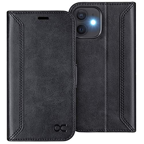 OCASE Compatible with iPhone 12 Case/Compatible with iPhone 12 Pro Wallet Case, PU Leather Flip Case with Card Holders RFID Blocking Kickstand Phone Cover 6.1 Inch (Graphite)