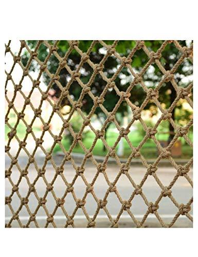 WSQJPWL888 Henneptouw veiligheidsnet veiligheidsnet anti-valnet kinderen muur scheidingswand hangmat schommel binnenhek balkon dak fotografie net, touw dikte 6 mm rooster 12 cm