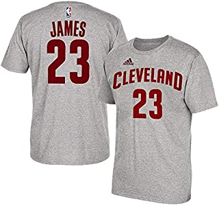 Lebron James Cleveland Cavaliers #23 Adidas Grey Name And Number Kids T Shirt