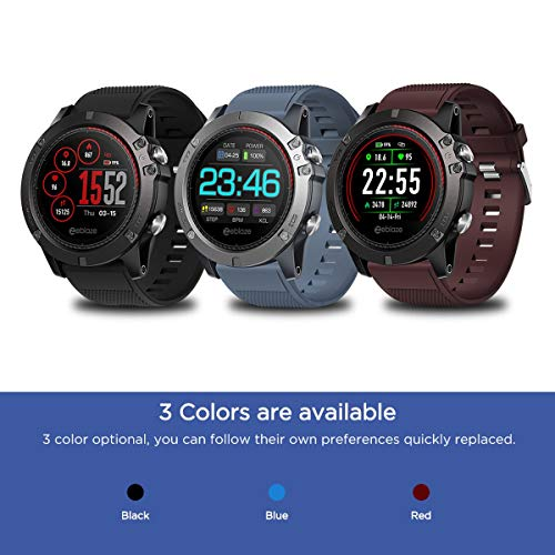 smartwatch zeblaze vibe 3 ecg Zeblaze VIBE 3 ECG IPS Display a colori Sport Smartwatch Cardiofrequenzimetro IP67 Smart Watch da uomo impermeabile per IOS per Android - Blu