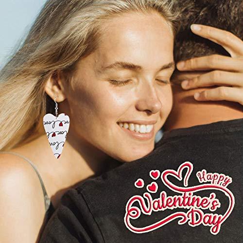 HINK Mujeres Niñas Fiesta del día de San Valentín Pendientes Colgantes Colgantes...