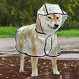 Idepet - Poncho Impermeable y Cortavientos con Capucha para Perros pequeños y medianos, como Chihuahuas