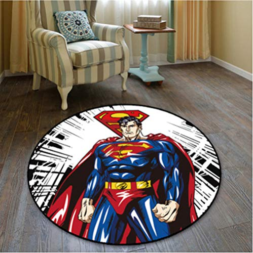 chengcheng DC Comics Justice League Alfombra Dormitorio Sala de niños Vestíbulo Alfombra Antideslizante Silla de Piso Pad Drum Pad 180cm