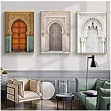 wymhzp Marokkanische Tür Wandkunst Gold Arabisch
