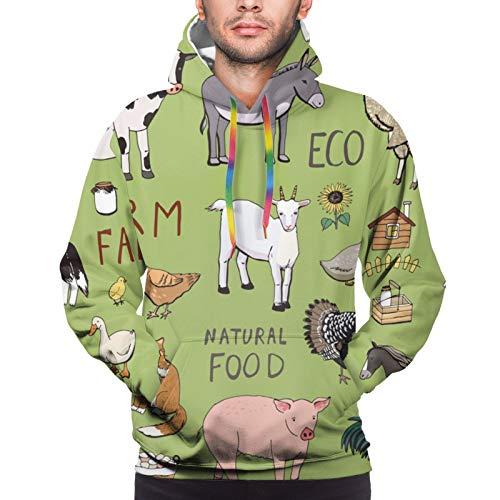 Farm Animals Wildlife Goat Youth 3D Printed Hooide Sweatshirt with Pocket XXXL