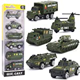 Dreamon Jouet Véhicule Militaire en Plastique et en métal avec 6pcs Mini Modèles Voitures Classiques pour Enfants de 3 4 5 Ans