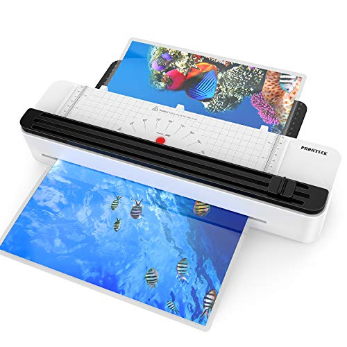 A3/A4/A6 Thermal Laminator Machine, 12 inch, Rapid 1.5 Minute Warm-up for Home Office School Use, Support 3Mil 5 Mil