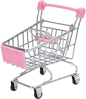 HEALLILY Mini-Supermarknad handvagn leksak shoppingvagn Utility Cart läge skrivbord lagring leksakshållare skrivbord tillb...