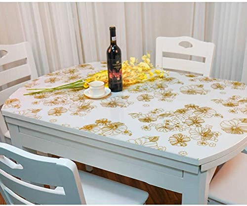 Pvc wit imitatie marmer ronde salontafel mat waterdicht anti-scalding Olie-proof tafelkleed TINGTING (kleur: inkt, Maat : 120cm diameter cirkel)