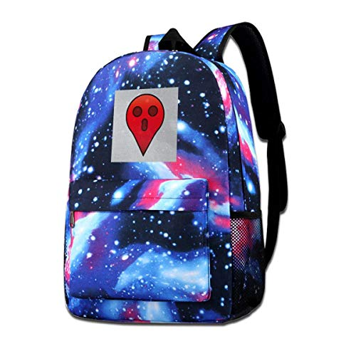 Warm-Breeze Galaxy Impreso Hombros Bolsa Ghsot GPS Halloween Moda Casual Star Sky...