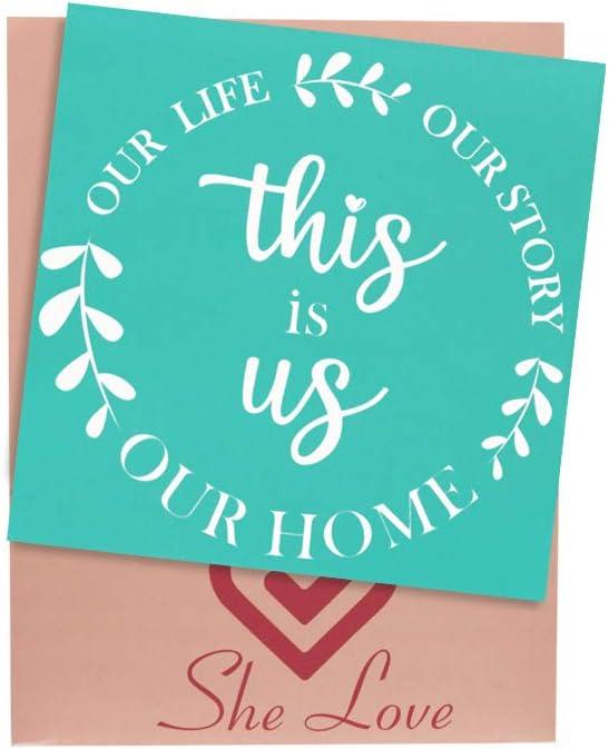 She Love Silk Screen Dallas Mall Stencils This us Design Be super welcome M is Self-Adhesive
