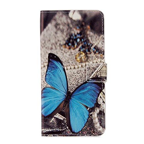 95Street Huawei Honor 6A Handyhülle Book Hülle Huawei Honor 6A Hülle Klapphülle Tasche im Retro Wallet Design mit Praktischer Aufstellfunktion