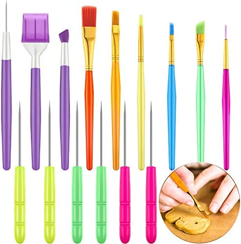 15 Pieces Cake Decorating Tool Set Cookie Decoration Brushes Cookie Scriber Needles Sugar Stir product image