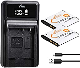Pickle Power NP-BN1 Batteries and Battery Charger Replacement for Sony Cyber-Shot DSC-W800 DSC-W530 DSC-W570 DSC-W650 DSC-W830 DSC-W310 DSC-W330 DSC-TX10 TX20 TX30 DSC-WX100 DSC-W800 DSC-QX10 DSC-QX30