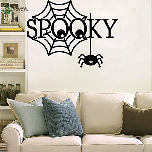 yaonuli muurstickers, vinyl, gaasmotief, zwart, spinnennet, woonkamer, decoratie, zelfklevend