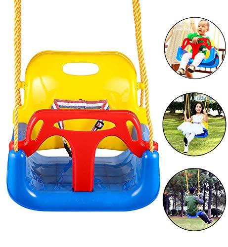 Schommelzitje 3-in-1 peuter hangende schommel voor baby's tot tieners Swing maximale belasting 120 kg voor tuin veranda boom speeltuin park