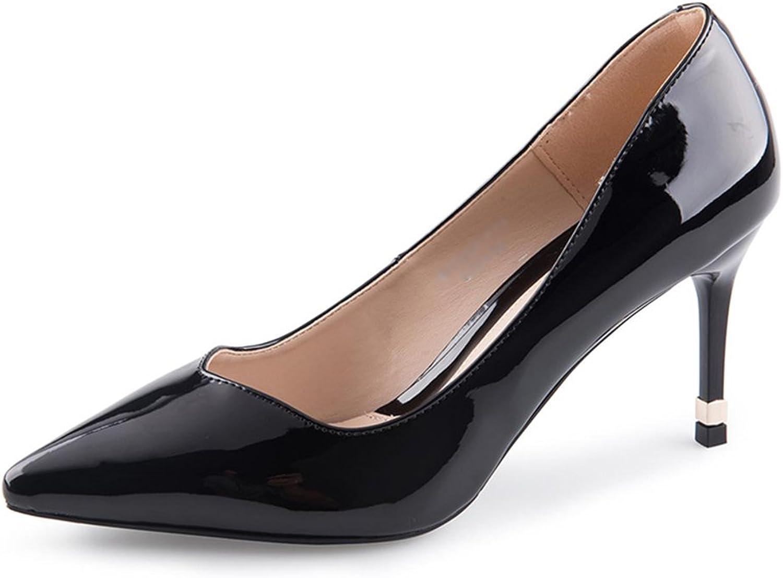 JIANXIN Pumps Für Damen Aus Flachs-Zehe Im Frühjahr Und Sommer Aus Lackleder Und High-Heel-Schuhe Aus Glas Und Damen. (Farbe   Schwarz, größe   37)  | Zu verkaufen