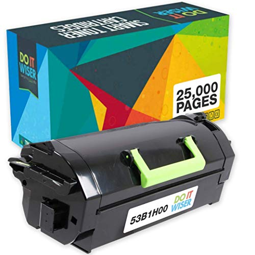 Do it Wiser Compatible Toner Cartridge Replacement for Lexmark 53B1H00 Lexmark MS817, MS817n, MS817dn, MS818dn (25,000 Pages - High Yield)