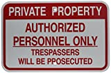 "Brady 141806 Traffic Sign, Engineer Grade Aluminum, 12"" x 18"", Red/White"