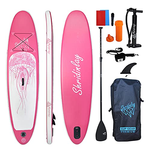 Shridinlay Inflatable Stand Up Paddle Boards Kit, 15cm Thick with Accessories, Adjustable Paddle,...