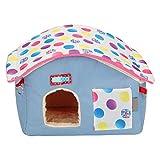 Soapow Hamster casa de animales pequeños hamaca para mascotas con nido de cama...