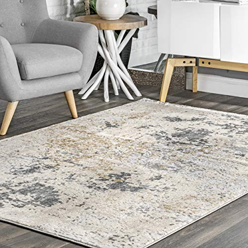 nuLOOM Abstract Contemporary Motto Area Rug, 12' x 15', Beige