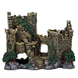 SALUTUYA Decoración de Acuario de Resina, decoración de Castillo Occidental Retro, decoración de Paisaje de pecera con Cueva, pecera