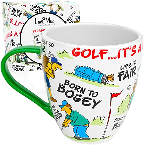 Love Mug: Golf Mug, Gifts For Golfers, Funny Golf Gifts, New Bone China Mug Set