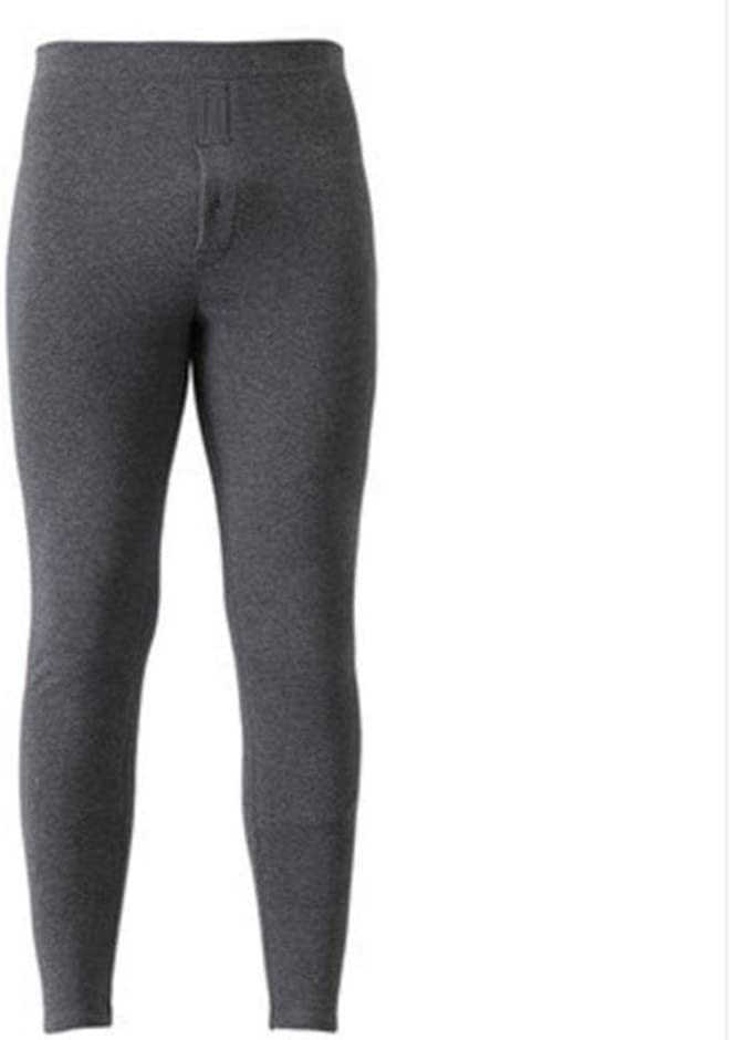 QWERBAM Thermal Underwear for Men Winter Thick Fleece Leggings Wear in Cold Weather Big Size XL to 6XL (Color : Dark Grey, Size : XXXL(65 75kg))