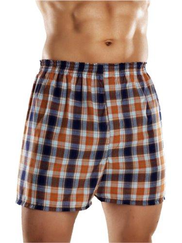 3 paires pour hommes Traditionnel tissé Coton Polyester Short Boxer avec Ceinture Élastique - Disponible en Tailles Petit jusque 5XL - Multi, Large