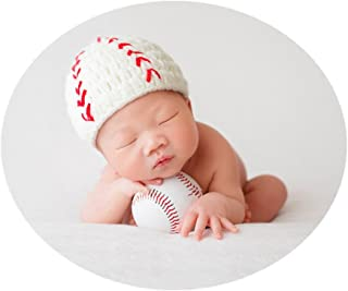 Newborn Monthly Baby Photo Props Hat with Baseball Set for Boys Girls Photography