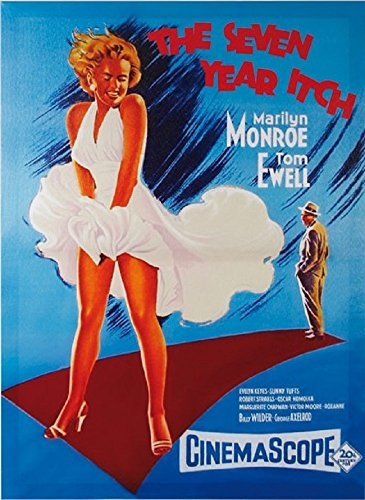 Desconocido Genérico Marilyn Monroe The Seven Year Itch Picture on Linen Canvas 50x 70