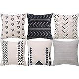 Xigeapg Geometrischer Kissen Bezug 6Er Set Dekorative Quadratische Sofa Kissen HüLle Aus Baumwolle,...