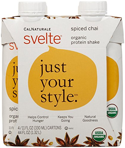 CalNaturale svelte Organic Protein Shake Drink - Spiced Chai - 4 Count