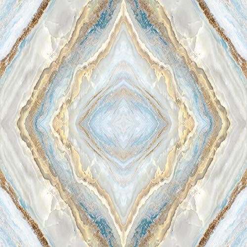 Msrahves Fotomural Vinilo de Pared Estilo europeo clásico azul mármol. Pared Mural Foto Papel Pintado Pared Mural Vivero Sofá Tv Pared De Fondo Decoración de Pared decorativos hotel fondo de TV