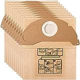 10 bolsas de filtro de repuesto para aspirador Karcher 6.904-322.0 WD2250 A2004 A2054 MV2