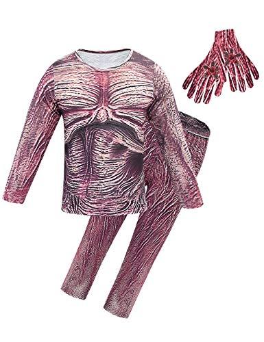 Disfraz Stranger Things para Nios, Demogorgon Halloween Flor Canbal Cosplay Set Adultos Nia Disfraz de Terror Traje con Mscara Stranger Things Costume Monos (Estilo 6,150)
