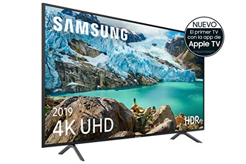 "Samsung 4K UHD 2019 55RU7105 - Smart TV de 55"" con Resolución 4K UHD, Ultra Dimming, HDR (HDR10+), Procesador 4K, One Remote Experience, Apple TV y Compatible con Alexa"