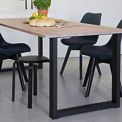 De Eekhoorn 2er Set Tischbeine KD U-Form Metall schwarz Tischbein Metallbein Tischfüße