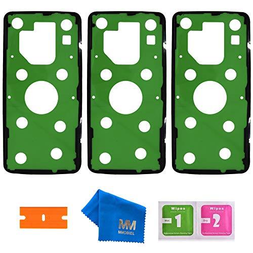 MMOBIEL 3X Pegatina Adhesiva para Cubierta Trasera para batería Compatible con Samsung Galaxy S9 Plus G965F 2018-6.2 Inch Incl. Herramientas