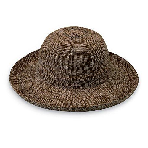 Wallaroo Hat Company Women's Victoria Sun Hat – Ultra Lightweight, Packable, Broad Brim, Modern Style, Designed in Australia, Suede