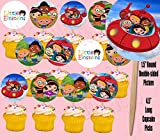 Little Einstein Double-Sided Cupcake Picks Cake Toppers -12 pcs