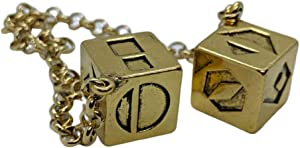 Smuggler's Dice Accurate Antique Weathered Gold Plated Solo Dice (Large)