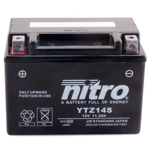Batterie Nitro YTZ14S GEL, 12V/11,2AH (Maße: 150x87x110) für Yamaha FZ1/Fazer Baujahr 2010