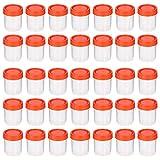 HEALLILY Vasos de Orina de 40 Ml Vasos de Recolección de Muestras con Tapas Espirales Contenedor Sellado de Orina 50 Piezas de Color Aleatorio
