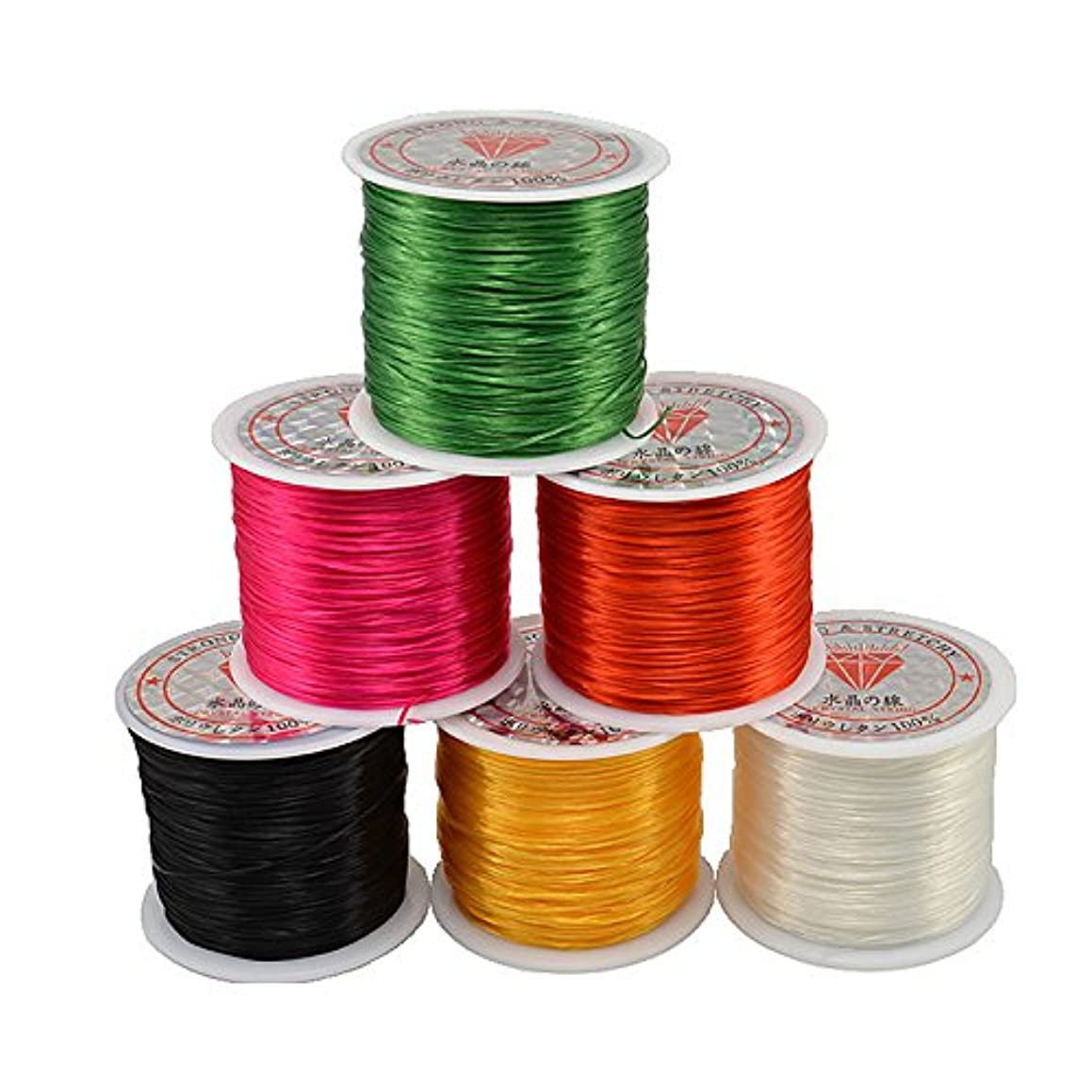 165ft/Roll 0.5mm Colorful Stretchy Elastic Rope Cord 6 Colors Crystal String for Jewelry Making Beading Bracelet Wire Fishing Thread Rope