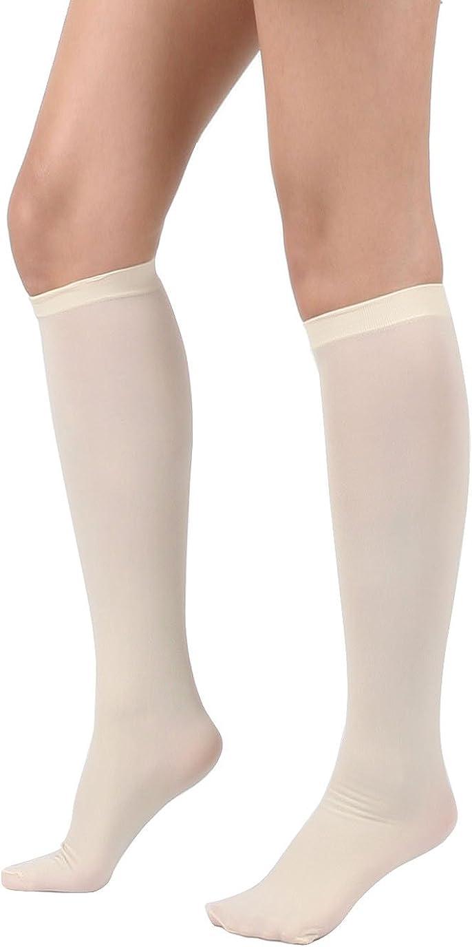 Women's Fashion Semi Opaque Knee High Trouser Sock 3pair / 6pair