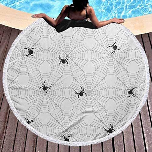 Manta de playa, Arena libre playa toalla araña web tropical playa toalla de color pálido de color pálido con arañas assilares insectos pegajosos de insectos para la playa de picnic alfombra de yoga al